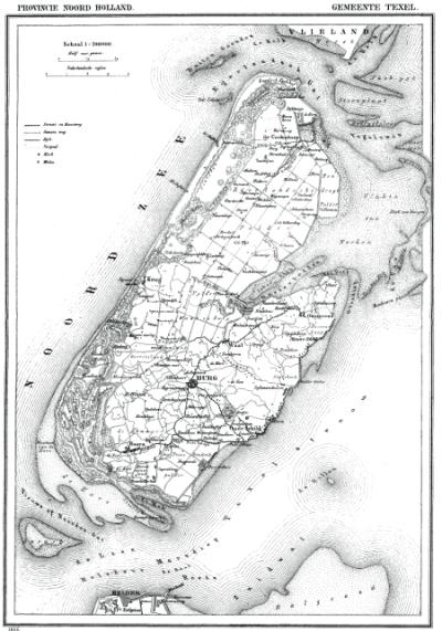 Texel Engelse Steen kaart