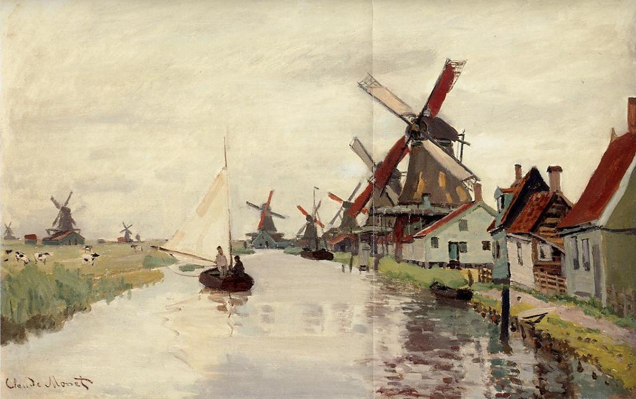 Noordervaldeursloot molens Zaandam Monet